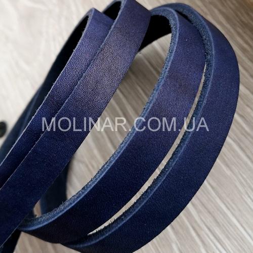 Полоса из натуральной кожи 10.0 х 4.0 мм | Синий