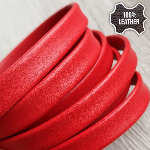 10.0 х 2.0 Кожаная полоса NAPPA SOFT | Красный