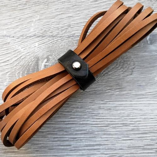 Шнурки кожаные для обуви 3.0х2800мм | Светло-коричневый