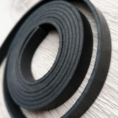 Полоса из натуральной кожи 10.0 х 2.0 мм | Черный