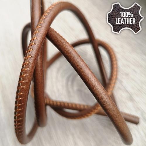∅5.0 Кожаный шнурок прошитый Nappa (Krast) | Коричневый