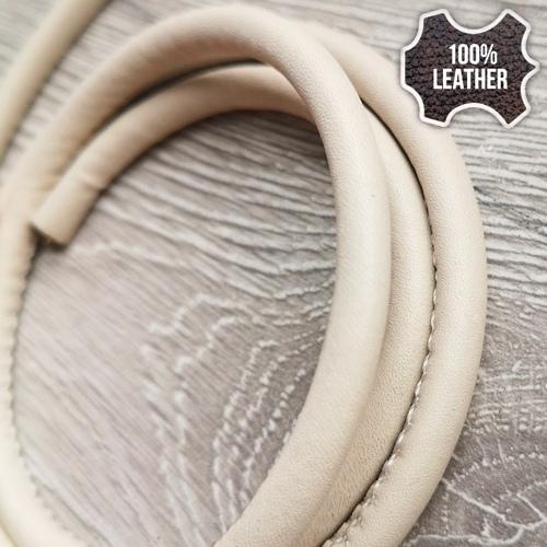 ∅5.0 Кожаный шнурок прошитый Nappa (Krast) | Беж