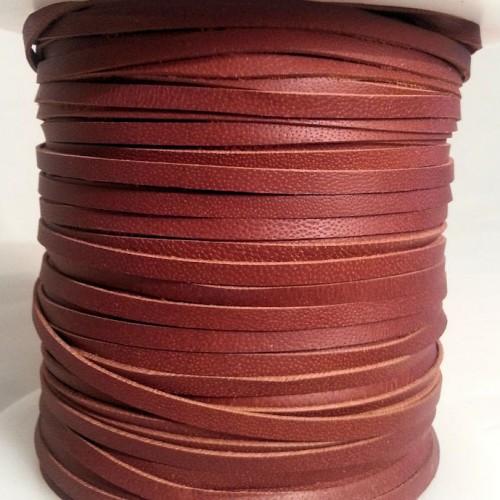 3.0 мм - Тесьма из натуральной кожи | Коричневый