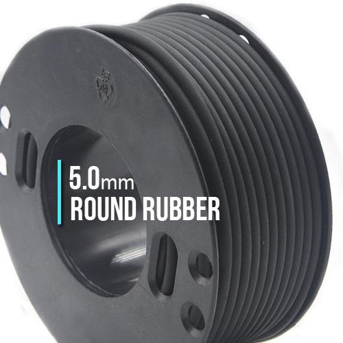 ∅5.0 Каучуковый шнурок (Италия) | Черный