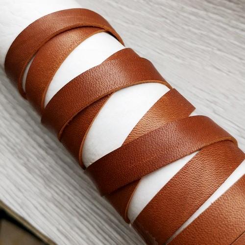 12.0 мм - Кожаная лента для оплетки | КОНЬЯК