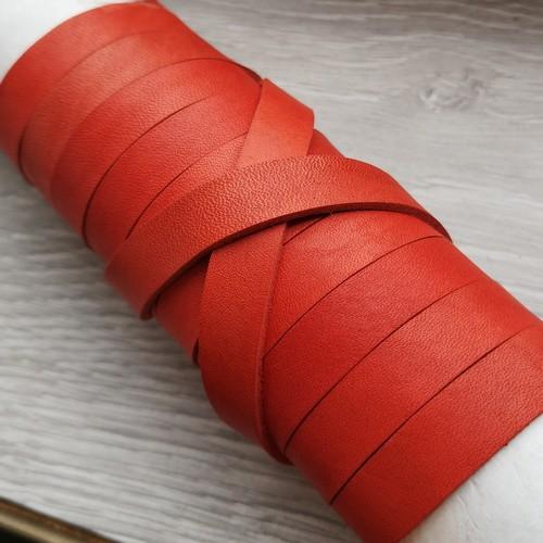 8.0 мм - Кожаная лента для оплетки | АЛЫЙ