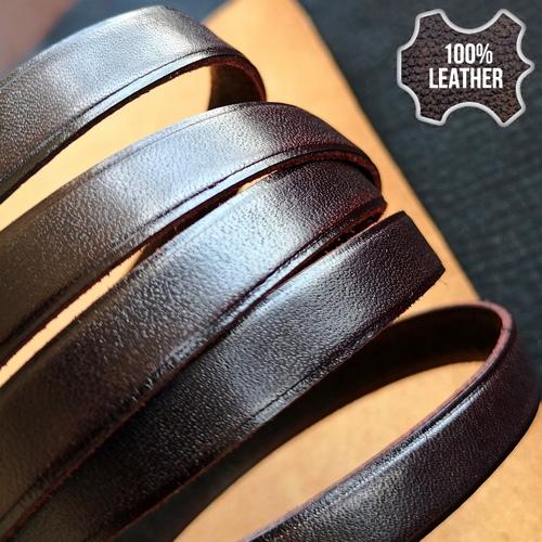 12.0 х 2.0 Кожаный плоский шнур HQ (Krast) | Коричневый