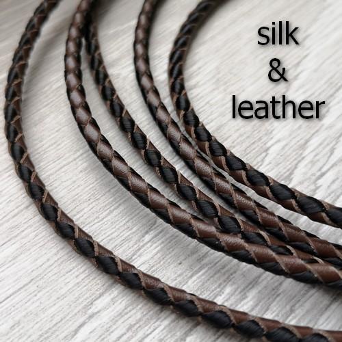 ∅3.0 Натуральная кожа с шелком (Krast) | Черно-коричневый