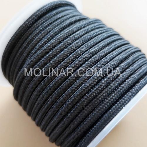 ∅6.0 - М216 - Шелковый плетеный шнур | Черный