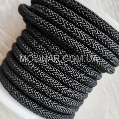 ∅4.0 - М223 - Шелковый плетеный шнур | Черный