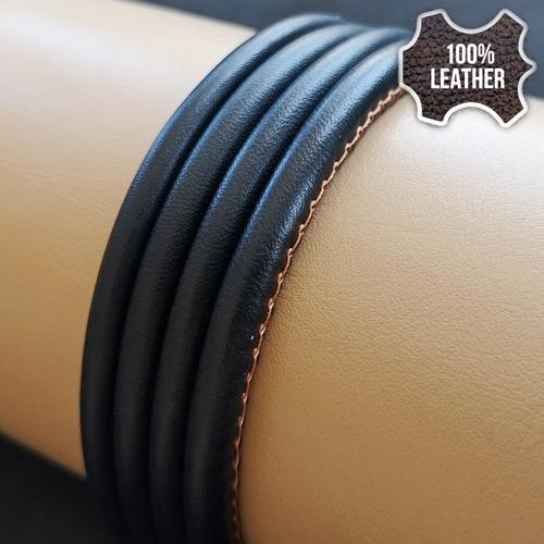 ∅5.0 Кожаный шнурок прошитый Nappa (Krast) | Черный 2