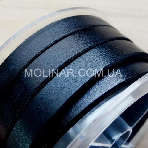 6.0 х 3.0 Кожаный плоский шнур HQ (Krast) | Черный