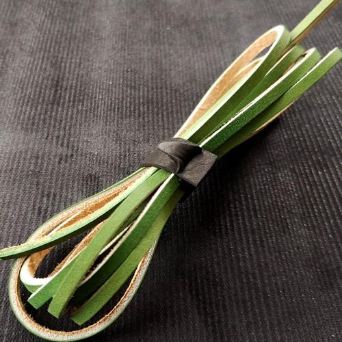 Шнурки кожаные для обуви 3.0х2800мм | Зеленый