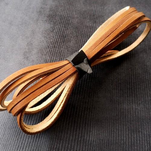 Шнурки кожаные для обуви 3.0х2800мм   Светло-коричневый