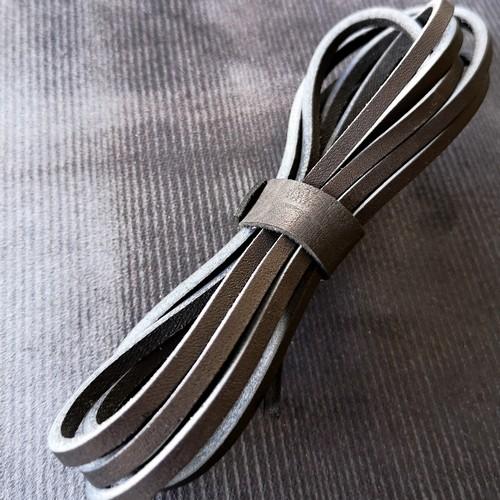 Шнурки кожаные для обуви 3.0х2800мм | Черный
