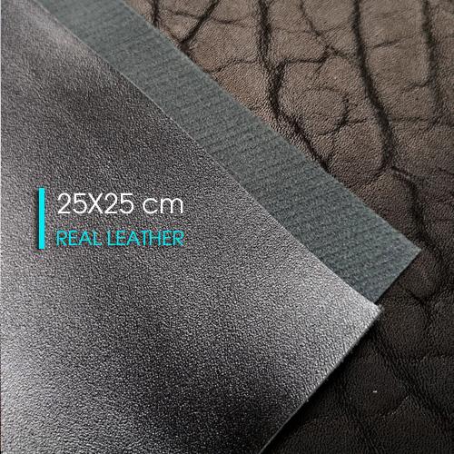 Лист из натуральной кожи 25 X 25 cm | Черный