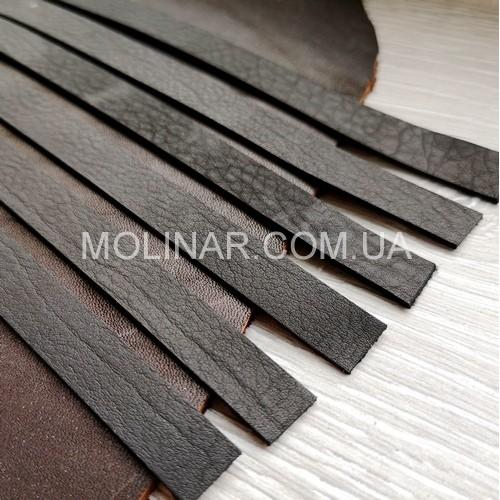 10.0 мм - Лента из натуральной кожи | Черный