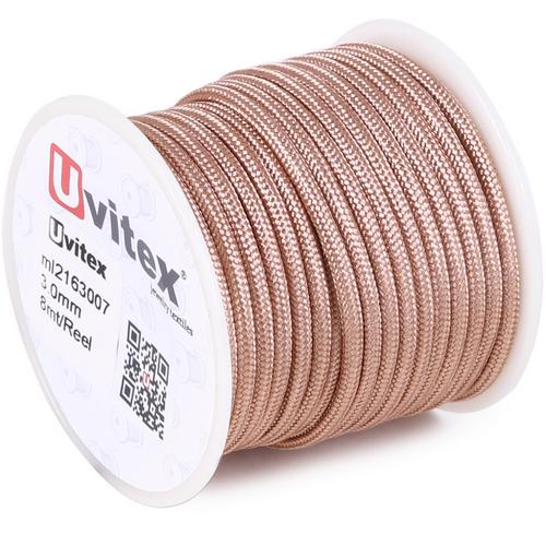 ∅3.0 - М216 - Шелковый плетеный шнур | Цвет 07