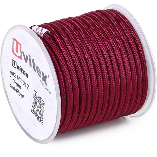 ∅3.0 - М216 - Шелковый плетеный шнур | Цвет 12