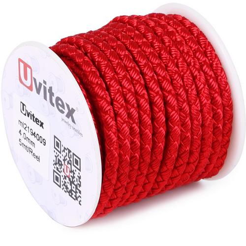 ∅4.0 - М2016 - Шелковый плетеный шнур | Красный