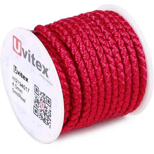 ∅4.0 - М2016 - Шелковый плетеный шнур   Цвет 17