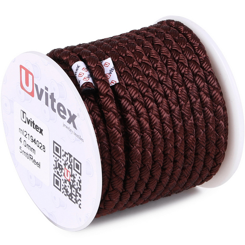 ∅4.0 - М2016 - Шелковый плетеный шнур | Цвет 28
