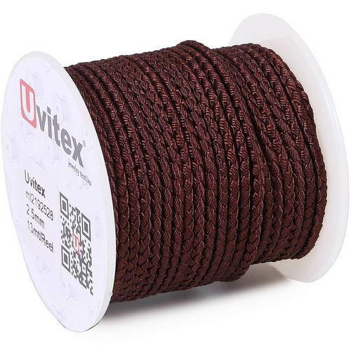 ∅2.5 - М2016 - Шелковый плетеный шнур | Цвет 28