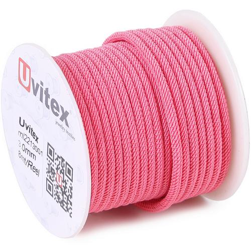 ∅3.0 - М221 - Шелковый плетеный шнур | Цвет 01