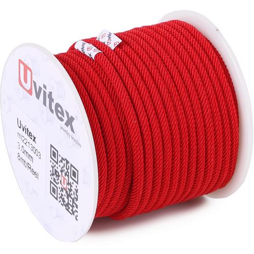 ∅2.5 - М221 - Шелковый плетеный шнур | Красный