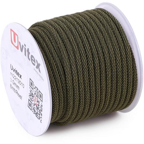 ∅3.0 - М221 - Шелковый плетеный шнур | Цвет 10