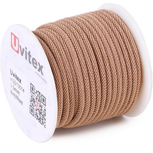 ∅3.0 - М221 - Шелковый плетеный шнур | Цвет 14