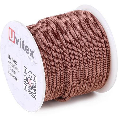 ∅3.0 - М221 - Шелковый плетеный шнур | Цвет 15