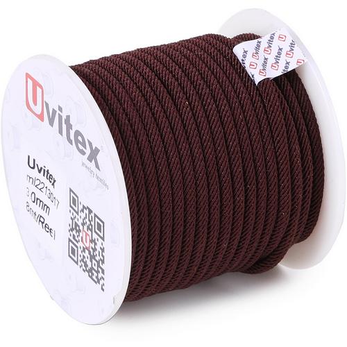 ∅3.0 - М221 - Шелковый плетеный шнур | Цвет 17