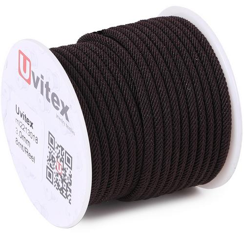 ∅3.0 - М221 - Шелковый плетеный шнур | Цвет 18