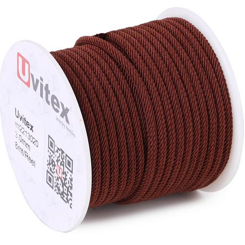 ∅3.0 - М221 - Шелковый плетеный шнур | Цвет 20