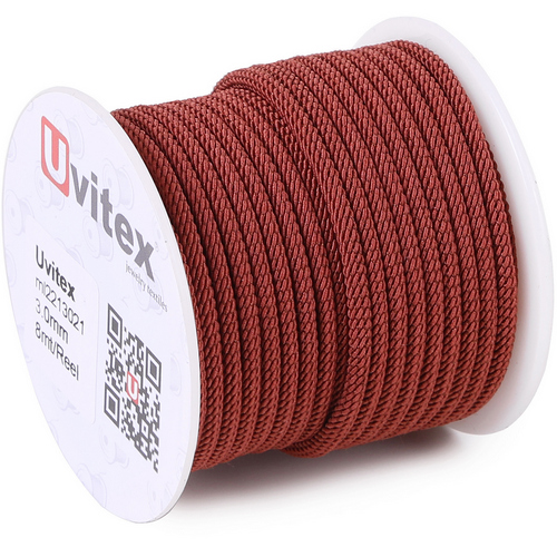 ∅3.0 - М221 - Шелковый плетеный шнур | Цвет 21