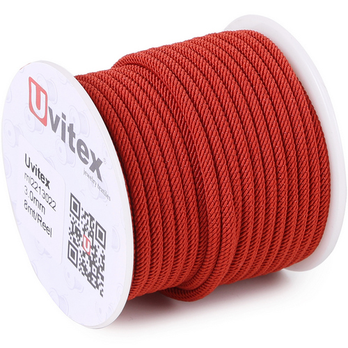 ∅4.0 - М221 - Шелковый плетеный шнур | Цвет 22