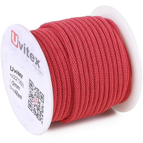 ∅3.0 - М221 - Шелковый плетеный шнур | Цвет 23