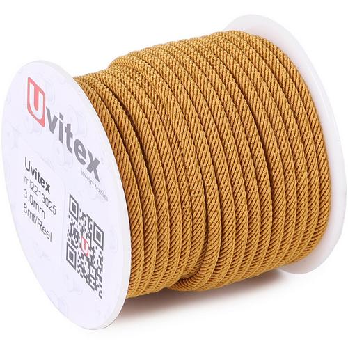 ∅3.0 - М221 - Шелковый плетеный шнур | Цвет 25