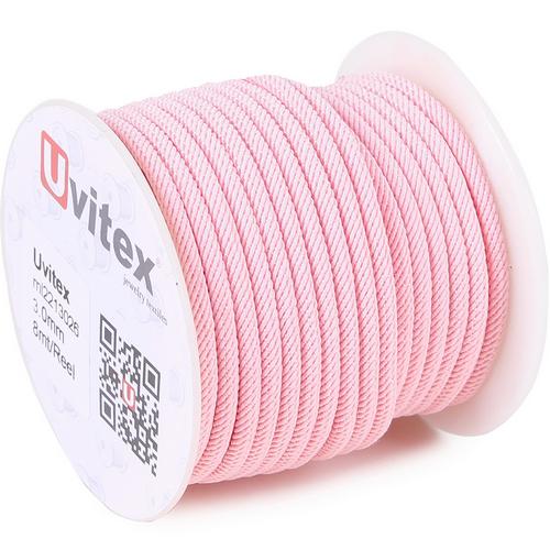 ∅3.0 - М221 - Шелковый плетеный шнур | Цвет 26