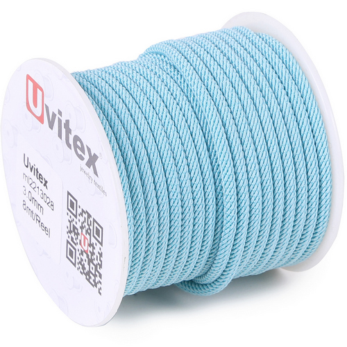 ∅3.0 - М221 - Шелковый плетеный шнур | Цвет 28