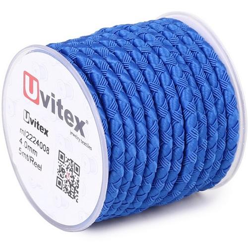∅4.0 - М222 - Шелковый плетеный шнур   Голубой
