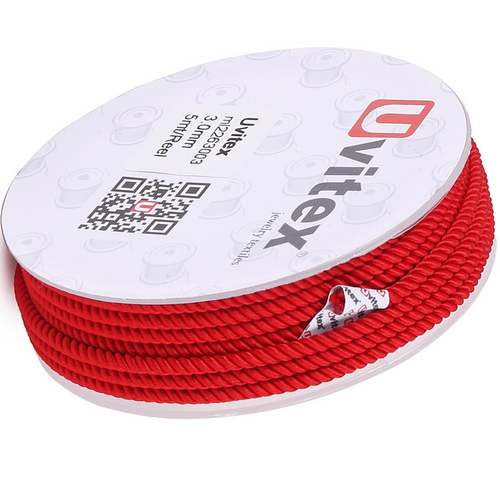 ∅1.5 - М226 - Шелковый плетеный шнур | Красный