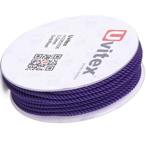 ∅1.5 - М226 - Шелковый плетеный шнур | Цвет 06