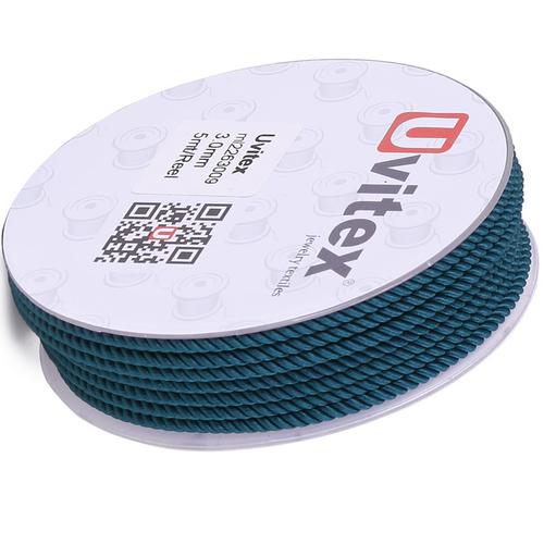 ∅1.5 - М226 - Шелковый плетеный шнур | Цвет 09