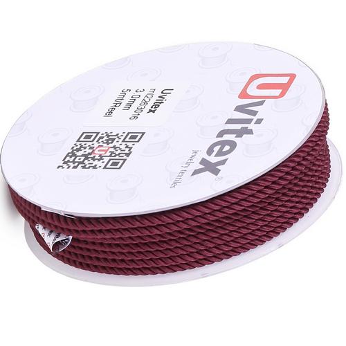 ∅1.5 - М226 - Шелковый плетеный шнур | Цвет 16