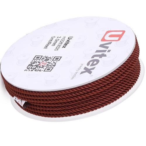 ∅1.5 - М226 - Шелковый плетеный шнур | Цвет 20