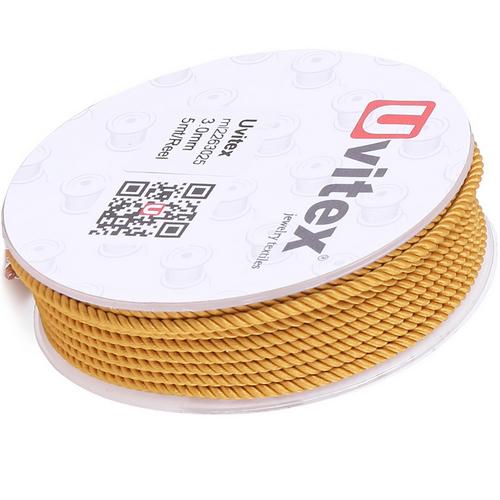 ∅3.0 - М226 - Шелковый плетеный шнур | Цвет 25