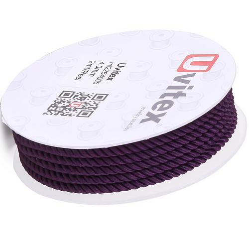 ∅4.0 - М226 - Шелковый плетеный шнур   Цвет 05