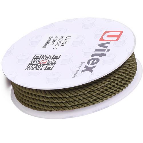 ∅4.0 - М226 - Шелковый плетеный шнур   Цвет 10